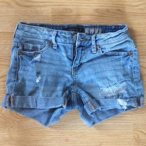 Aeropostale Light Wash Distressed Jean Shorts
